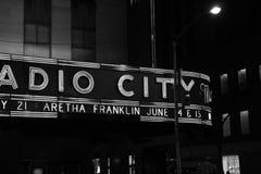 Radiostadsmusik Hall, NYC royaltyfri bild