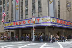 Radiostadt-Auditorium in New York City Stockbild