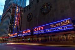 Radiostadt-Auditorium in Rockefeller-Mitte in New York, NY Stockbild