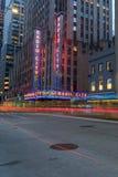 Radiostadt-Auditorium in Rockefeller-Mitte in New York, NY Lizenzfreies Stockbild