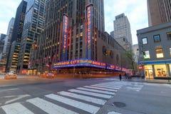 Radiostadt-Auditorium in Rockefeller-Mitte in New York, NY Lizenzfreie Stockfotografie