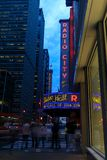 Radiostadt-Auditorium in Rockefeller-Mitte in New York, NY Lizenzfreie Stockfotos