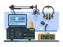 Radiostationstudio royalty-vrije illustratie