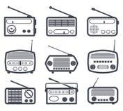 Radiosymboler royaltyfri illustrationer