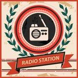 Radiosymbool, Uitstekende stijl Stock Afbeeldingen