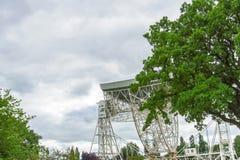Radiotélescope de banque de Jodrell dans la campagne rurale de Cheshire England Images libres de droits