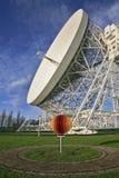 Radiotélescope de côté de Jodrell Photos libres de droits