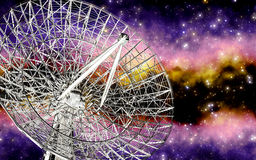 Radiotelescope illustration libre de droits