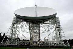 radiotelescope de jodrell de côté Images libres de droits
