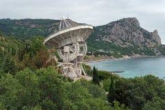 Radiotelescope dell'osservatorio di Simeiz in Crimea Immagini Stock Libere da Diritti