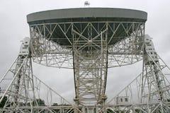 Radiotelescope do banco de Jodrell Fotos de Stock
