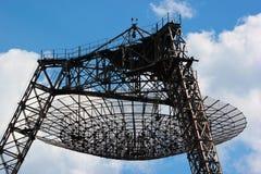 Radiotelescope for studying of ionosphere, Ukraine.  royalty free stock image