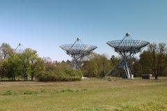 Radiotelescopen in Nederland royalty-vrije stock foto's