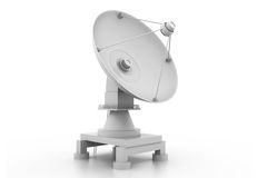 Radioteleskop auf weißem Hintergrund Lizenzfreie Stockbilder