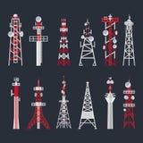 Radiotorenreeks, media en informatietechnologie stock illustratie
