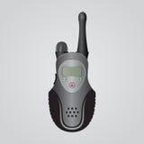 Radiotrasmittente portatile nera Fotografia Stock