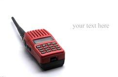 Radiotrasmittente rossa Fotografie Stock Libere da Diritti