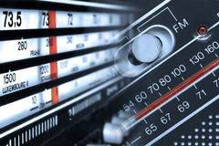 Radiotunerfrequenties stock afbeeldingen