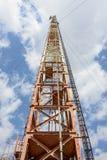 Radioturm mit Antennen Stockbilder