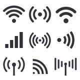 Radiovågor stock illustrationer