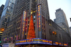 Radiowa miasto hala koncertowa w Rockefeller centrum Fotografia Stock