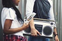 Radiowego Audio Muzycznego melodia rytmu czasu wolnego Retro pojęcie obrazy stock