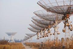 Radiowi teleskopy Zdjęcia Stock