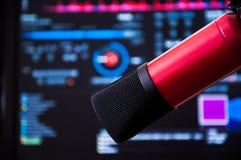 Radiowy mikrofon Zdjęcia Royalty Free