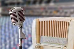 radiowy mikrofonu rocznik Obraz Royalty Free
