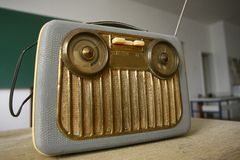 Radiowy stary radiowego odbiorcy przyrząd Obrazy Royalty Free