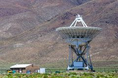 Radiowy teleskop Kalifornia Obrazy Royalty Free