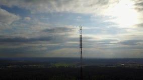Radiowy wierza Ulbroka Latvia trutnia odgórnego widoku 4K UHD Powietrzny wideo zbiory