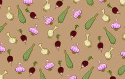 Radis de potirons d'oignons et d'autres légumes Photo stock