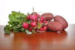 Radis et pommes de terre Images libres de droits