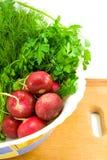 Radis et verdure photos stock