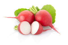 Radish. Close up isolated on white, clipping path included Royalty Free Stock Photography
