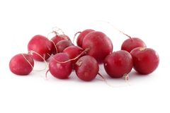 Radish. Bunch of radish over white background Stock Images