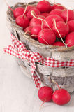 Radish in basket Stock Photo