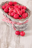 Radish in basket Royalty Free Stock Images