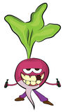 Radish cartoon character Stock Image