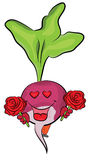 Radish cartoon character Royalty Free Stock Photos