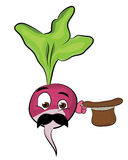 Radish cartoon character Stock Images