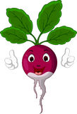 Radish cartoon thumbs up Royalty Free Stock Photography