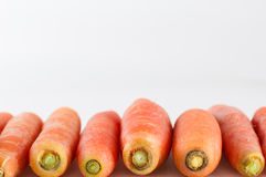 Carrots. Closeup of carrots on white background Stock Images