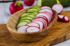 Radish and cucumber Stock Image