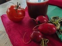 Radish juice with tomato. stock image