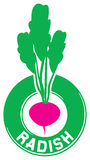 Radish label Stock Photo