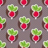 Radish pattern. Seamless texture with ripe radishes Royalty Free Stock Photos