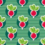 Radish pattern. Seamless texture with ripe radishes Stock Photo