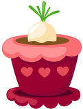 radish in a pot Stock Images